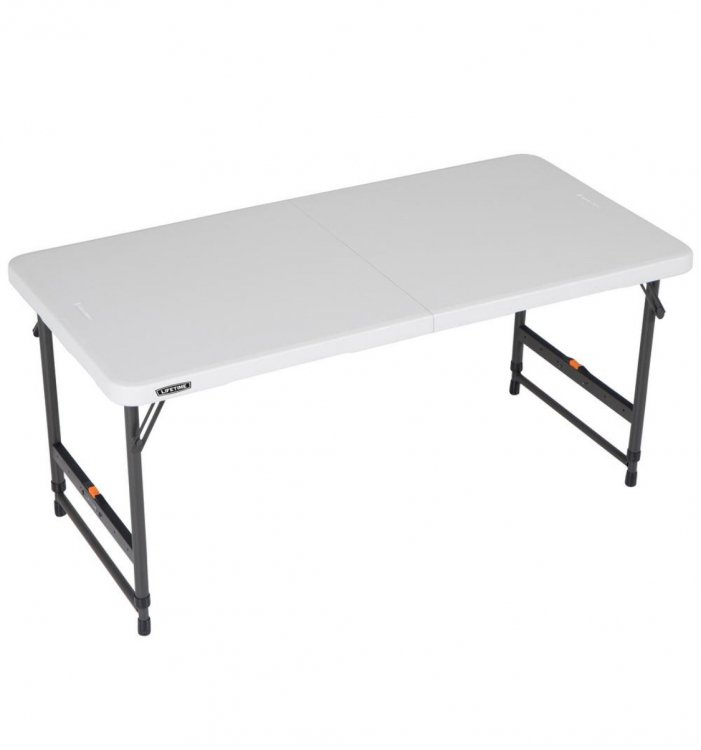 4' Folding Table -White