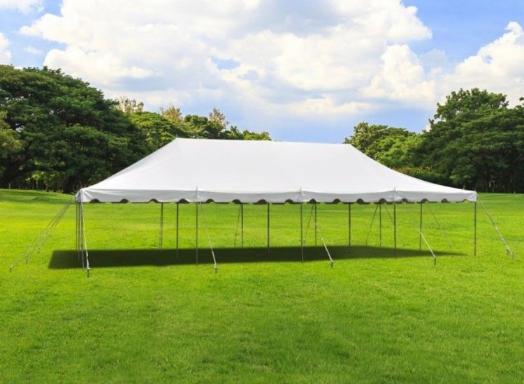 20 x 40 Pole Tent With Setup