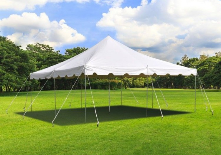 20 x 20 Pole Tent With Setup