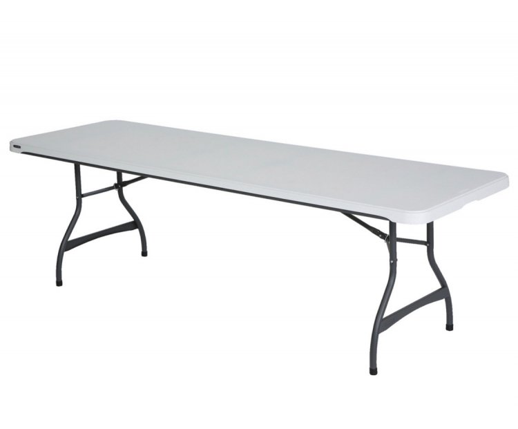 8' Folding Table - White