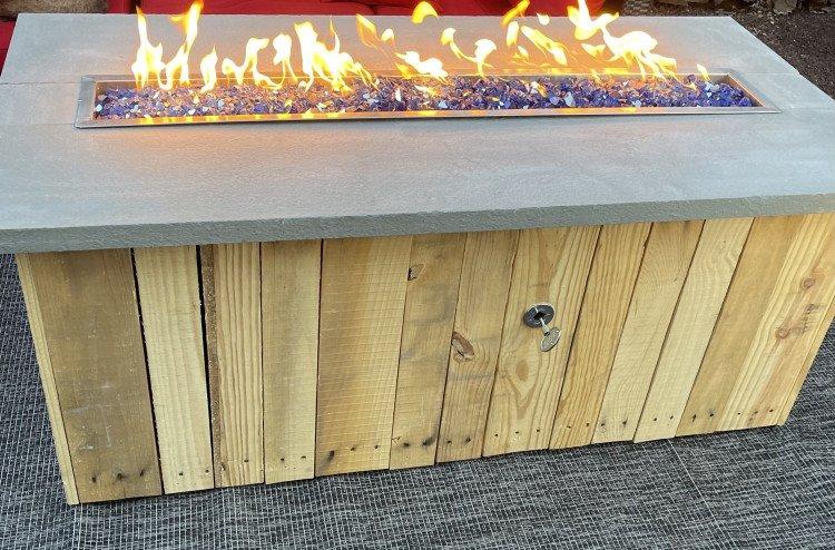 5' Propane Slate Rustic Fire Pitt