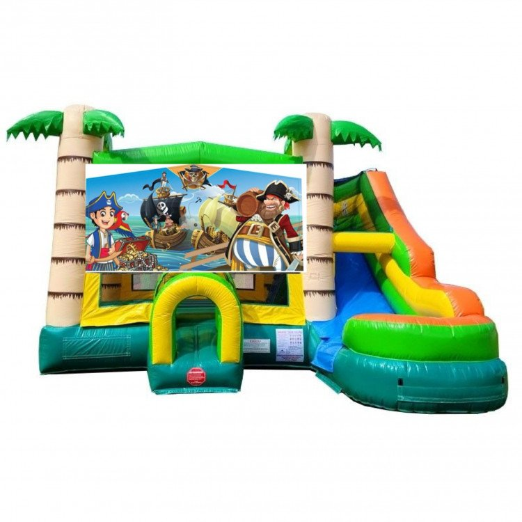 Pirates Theme Tropical Bounce Water Combo