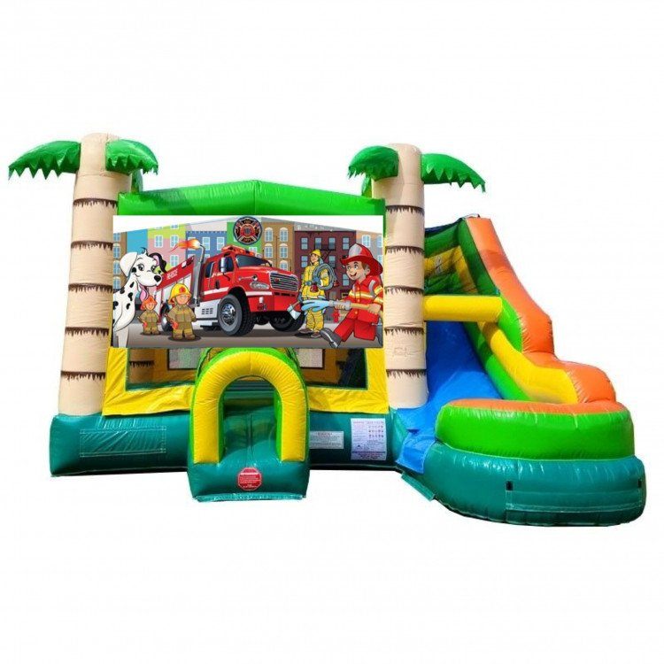 Rescue Squad Tropical Bounce Water Combo