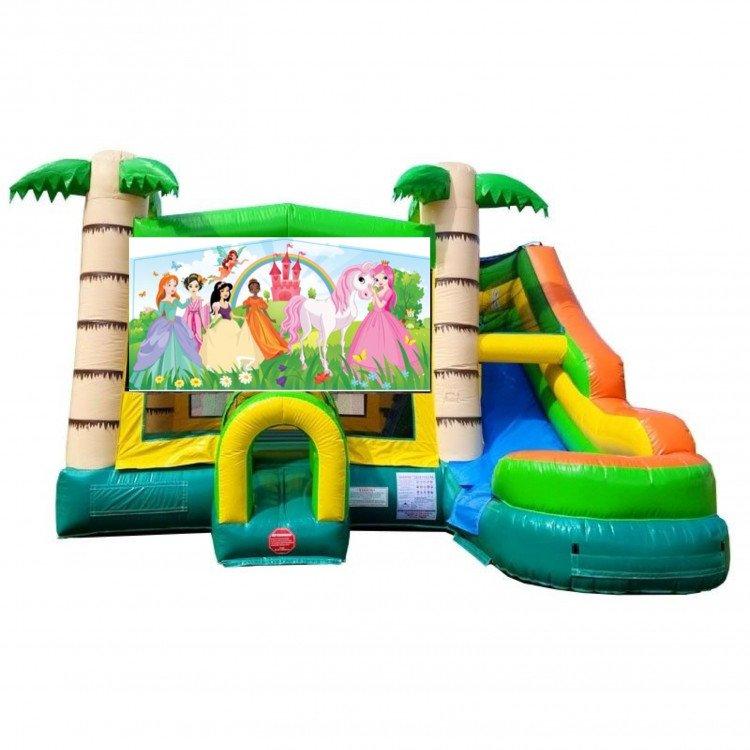 Princess Theme Tropical Bounce Water Combo