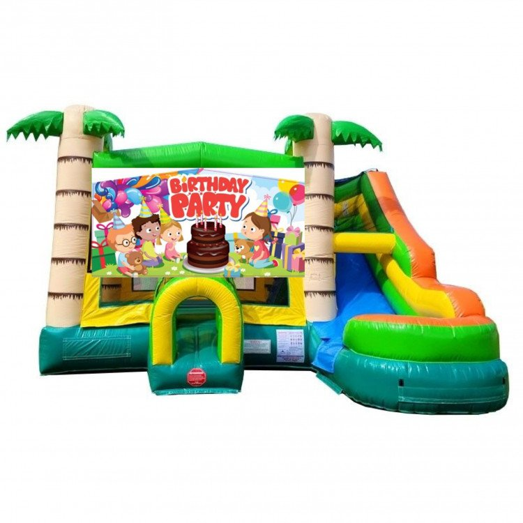 Happy Birthday Theme Tropical Bounce Combo